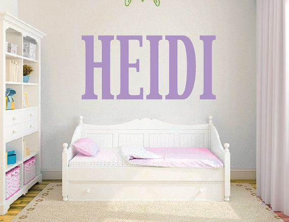 Large Letter Girl Name Wall Decal DB338 By Designedbeginnings