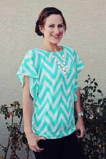 The Lesley Flutter Top for Women sewing pattern by Seamingly Smitten  sizes 0-26 www.etsy.com/shop/SeaminglySmitten