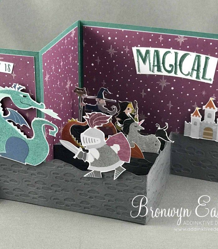Magical Day Double Z-Fold, Box Card Tutorial, #addinktivedesigns