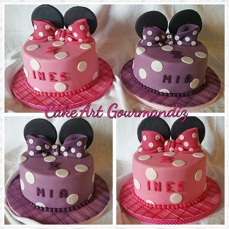 Gâteau d'anniversaire Minnie Mouse #minniemouse #minniecake #gateauminnie #minnie
