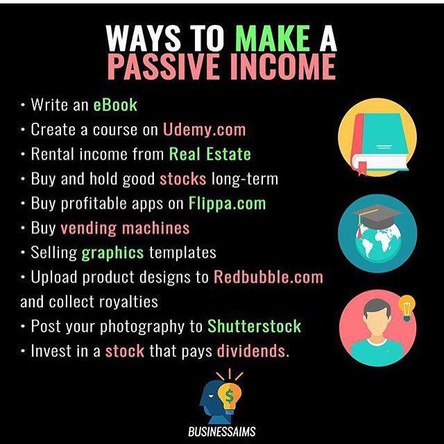 Ways to make passive income. 💰💸💸 Follo