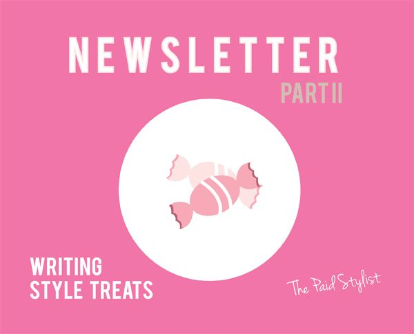 Tips to help you write content for your newsletters. #personalstylist #marketing #newsletter