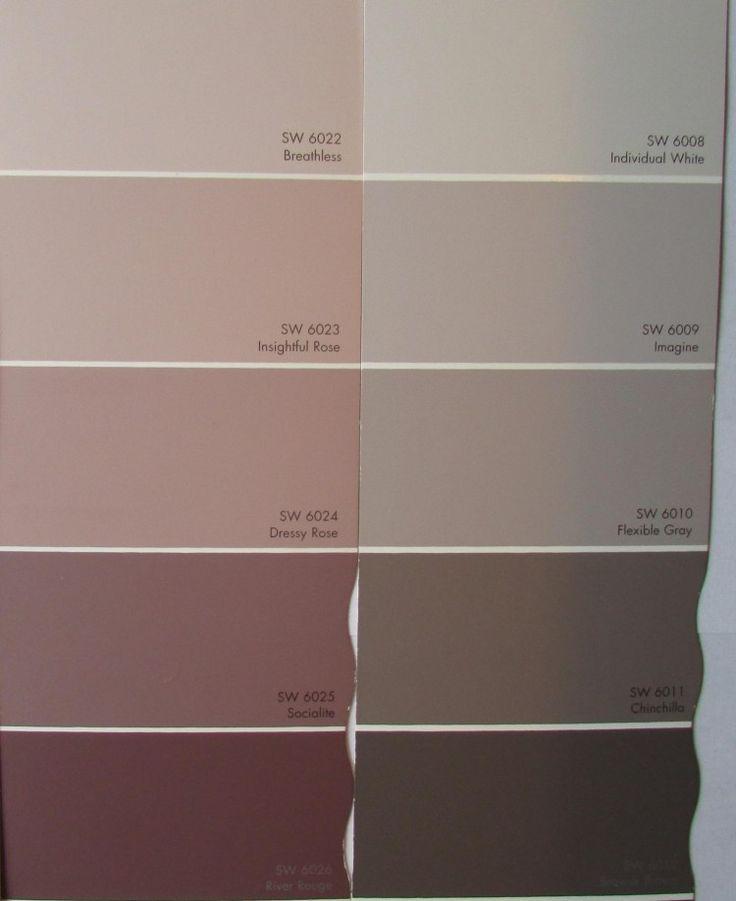 peinture rose et couleur grise en nuances différentes