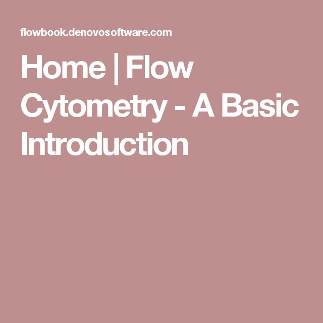 Home | Flow Cytometry - A Basic Introduction