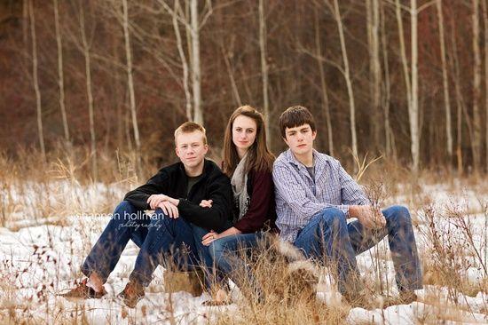 Posing those 'hard to pose' older siblings.