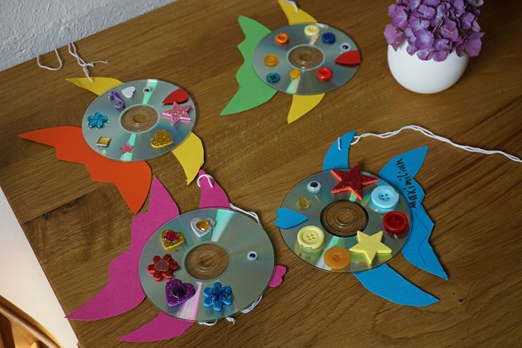 CD Upcycling // DIY with kids – Reges Leben
