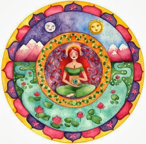 Art Spiritual Meditation Goddesses #Mandala SAIKU ALTERNATIVO: Ejercicios energéticos para sanar el útero