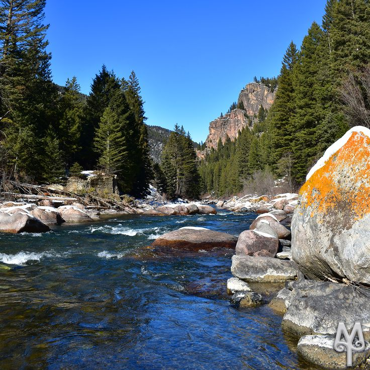 Early Winter On The Gallatin River near Bozeman, Montana...Plan your next fly fishing adventure with a Free Gallatin River Photo Map from Montana Treasures. This photo is menu item 'G49.'