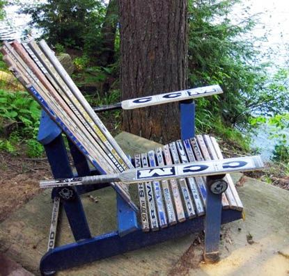 Hockey Stick Chair For The Dock