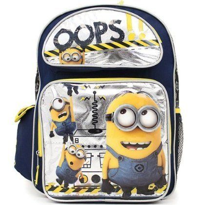 Despicable Me 2 Minions Large School Backpack 16 Book Bag - Oops! by Mentald @ niftywarehouse.com