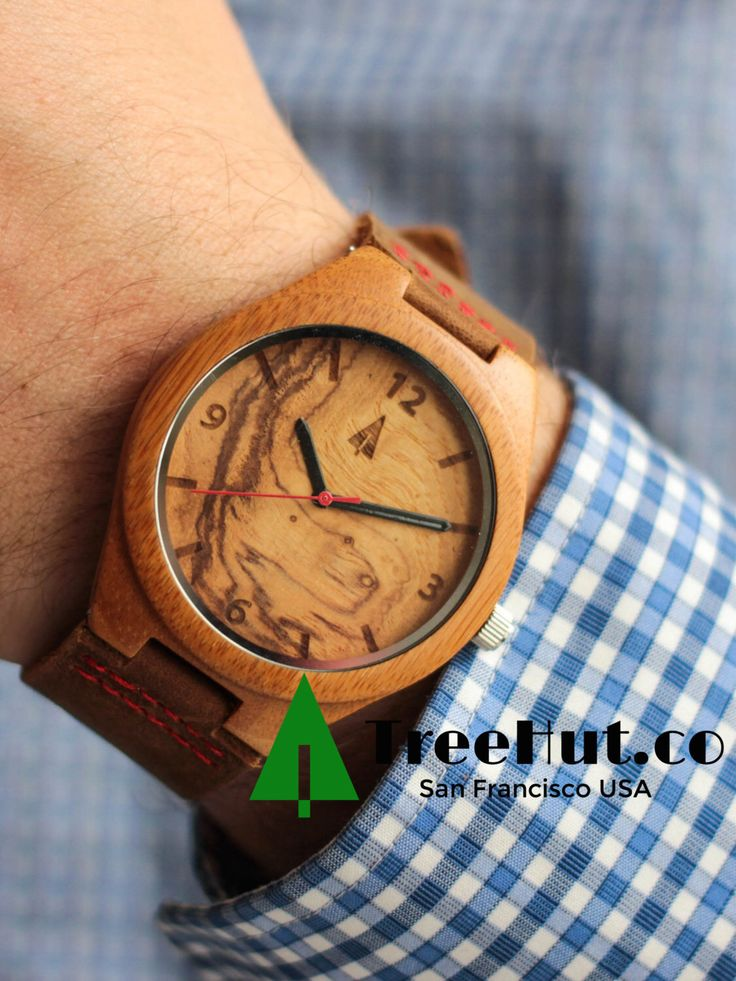 Brown Leather Watches for Men, Mens watches, Wood Watch, Groomsmen gift, Wedding Gift, Anniversary Gifts for Men Wooden Watch HUT11-092 by TreeHutDesign on Etsy https://www.etsy.com/listing/235092904/brown-leather-watches-for-men-mens