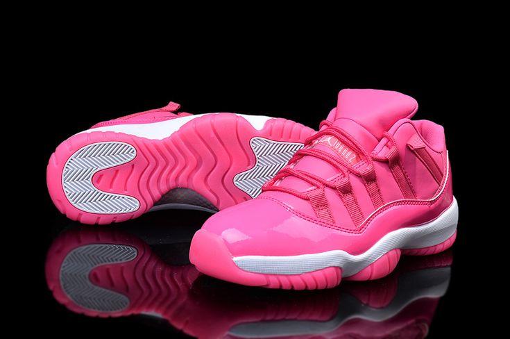 Woman's Air Jordan 11 Low Basketball Shoes Pink/White