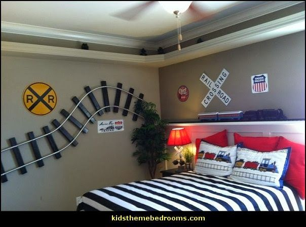 train theme bedroom ideas transportation bedroom decorating ideas - Ideas For Bedroom Decorating Themes