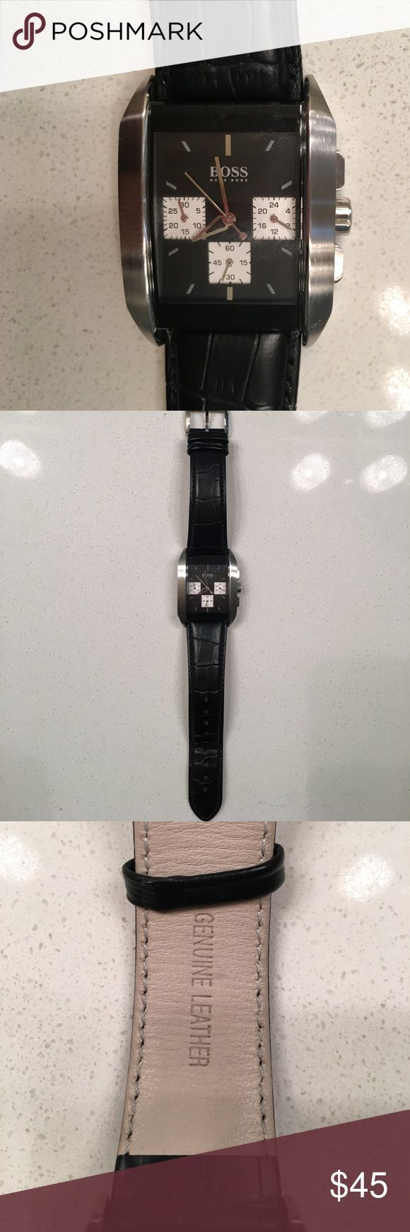 Men's Hugo Boss watch Good condition, authentic, watch only, needs new battery, real leather strap Accessories Watches