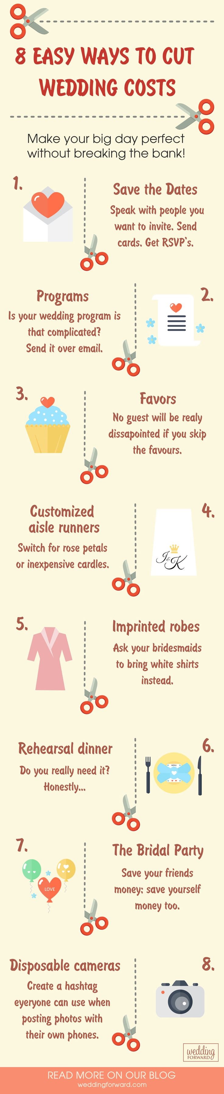 Best Wedding Freebies For Saving Money ❤️ There is absolutely zero doubt that a wedding can be incredibly expensive. However, there are lots of ways to save money on your perfect wedding if you know where to look. See more: http://www.weddingforward.com/best-wedding-freebies-saving-money/ #wedding #saving #money