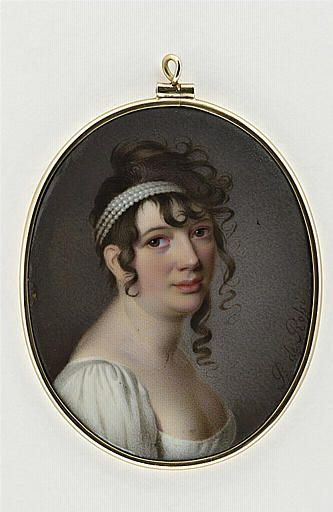 Pietro de Rossi, Portrait of a Lady,c.1810 - Look at that HAIR