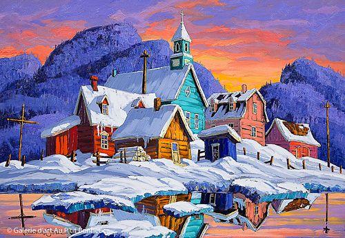 Vladimir Horik, 'La marée haute', 18'' x 26'' | Galerie d'art - Au P'tit Bonheur - Art Gallery