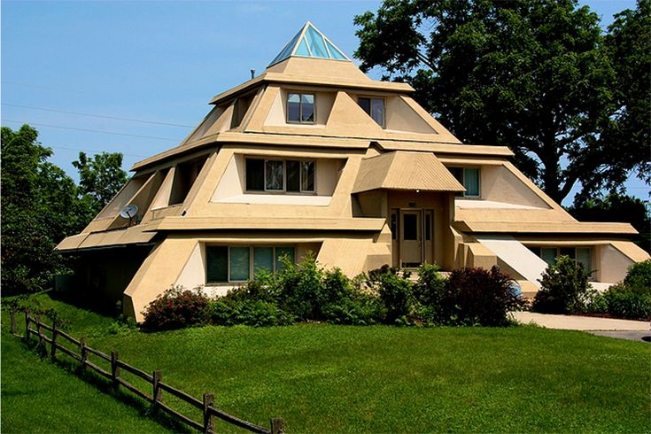 204 best dream homes images on pinterest dream homes for Pyramid home plans