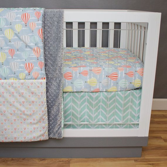 Adventure Gender Neutral Crib Bedding Baby Nursery by modifiedtot