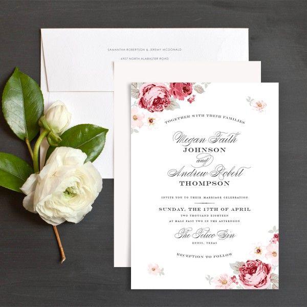 508 best Custom Wedding Invitations and Stationery images on – Garden Wedding Invitation Ideas
