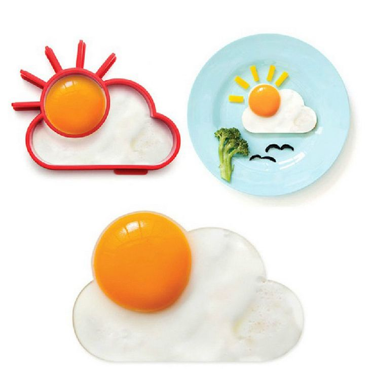 Breakfast Creative Silicone Cute Sun Cloud Egg Mold Fried Egg Mold Pancake Mold Kids Diy cooking tools Brand New