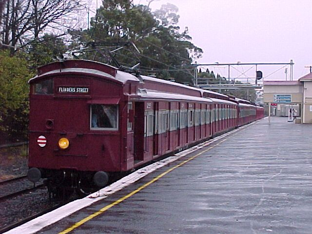 The smell of the leather seats in the old ''Red Rattler' trains, Melbourne