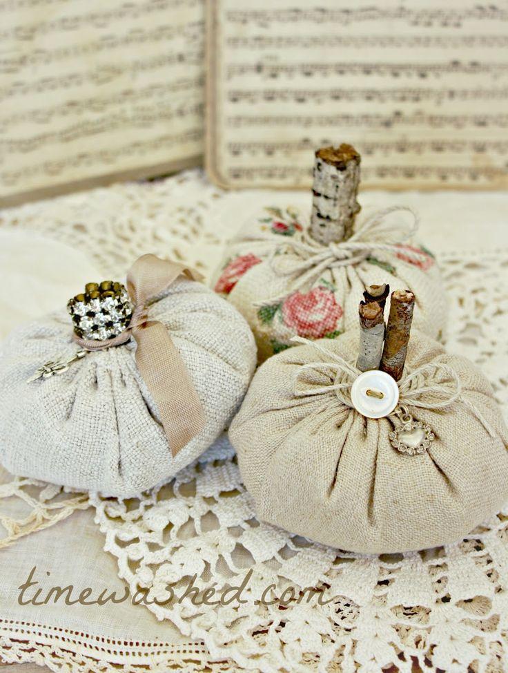 Vintage Fabric Pumpkins   Boo!   Pinterest   Vintage ...