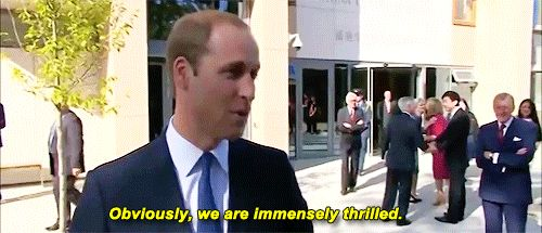Prince William speaks to the media on the day the second pregnancy of his wife the Duchess of Cambridge was made public. Due to her Hyperemesis Gravidarom she couldn't join her husband to the engagement at Oxford University, at which the Prince expressed he was keen to get back home and take care of her.