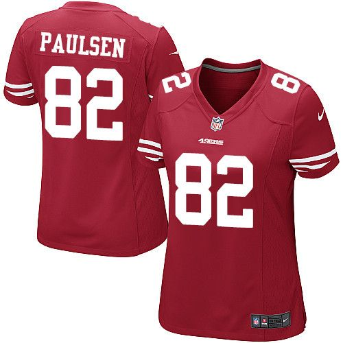 $24.99 Women's Nike San Francisco 49ers #82 Logan Paulsen Game Red Team Color NFL Jersey