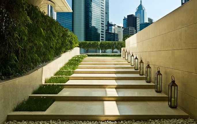 Leading to the lawn @ The Upper House Hong Kong