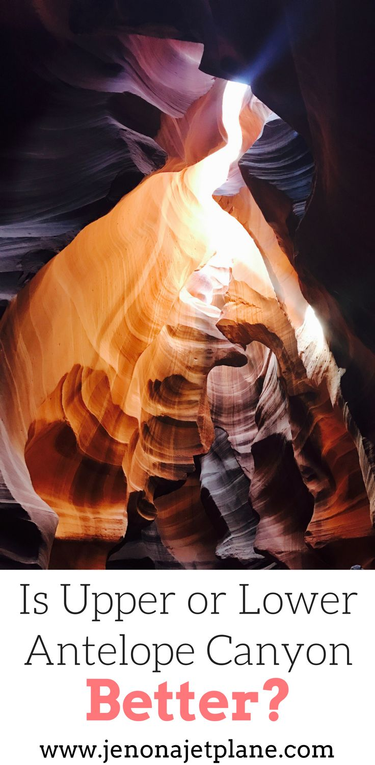 Are you planning a trip to Antelope Canyon this year? I will tell you the pros and cons of Lower Antelope Canyon and Upper Antelope Canyon to help you decide which one to see. Antelope Canyon is located in Arizona making it a perfect addition to a Zion National Park or Grand Canyon trip. I'll even tell you the best time to visit Antelope Canyon and photography tips for Antelope Canyon. Make sure you save this to your travel board so you can find it later.
