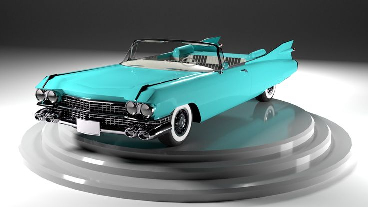 3D Car: Cadillac Eldorado Biarritz 1959 (turn) Work to be Completed later