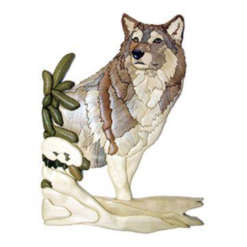Winter Wolf Intarsia Pattern