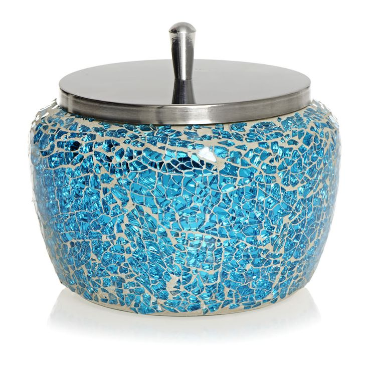 Wilko Mosaic Trinket Box Aqua At Wilko Com