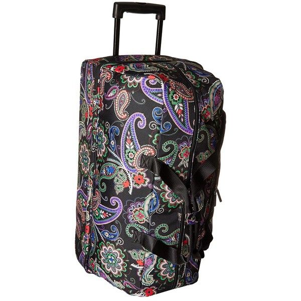 Vera Bradley Luggage Lighten Up Large Wheeled Duffel (Kiev Paisley)... ($228) ❤ liked on Polyvore featuring bags and luggage