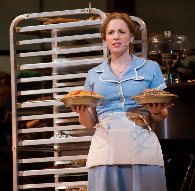 Jessie Mueller in Waitress. Brooks-Atkinson Theatre. 2016