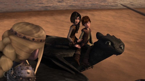 how to train your dragon heather and hiccup