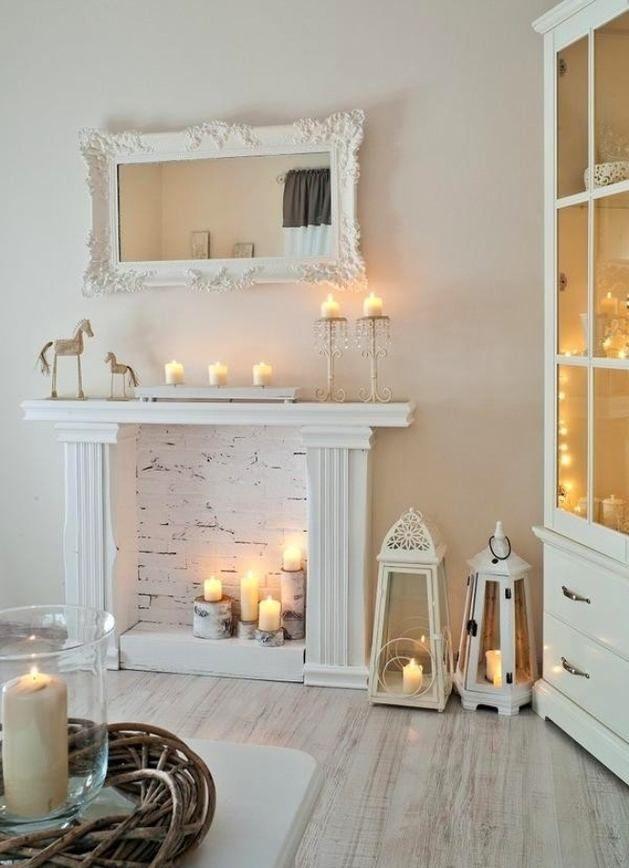 Камин из свечей 1