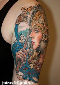 Valkyrie Tattoo Pinterest'te   Dövmeler Athena Dövme ve Norse ...
