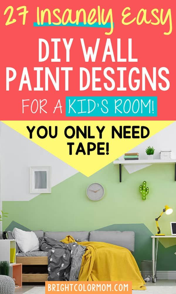 27 Funky Geometric Designs To Paint On The Wall In Your Boy S Room In 2021 Kids Room Paint Geometric Wall Paint Diy Wall Painting