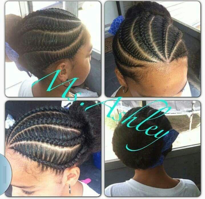 Cornrow Bun Braided Hairstyles Updo Natural Hair Styles