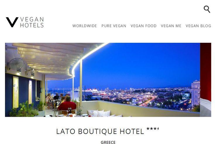 Lato Boutique Hotel listing on Vegan Hotels! #vegan #travel