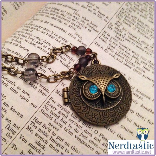 Mark of Athena Owl Locket Necklace (Percy Jackson/Annabeth Chase inspired) by shopNerdtastic on Etsy https://www.etsy.com/listing/205886271/mark-of-athena-owl-locket-necklace-percy