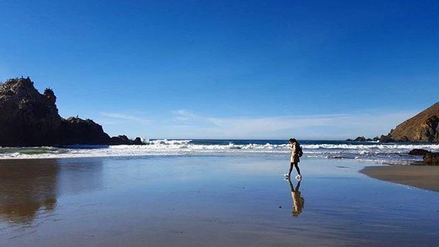 Next to the Pacific Ocean. #sasa2017footage #sasajojo #reflaction #bigsur #sunnyday #travel #blue #USA #california #roadtrip #calocals - posted by Teresasa Choy https://www.instagram.com/teresa_choy - See more of Big Sur, CA at http://bigsurlocals.com