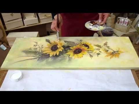 Cómo hacer y pintar cuadros con relieve o texturas con pasta acrílica - YouTube