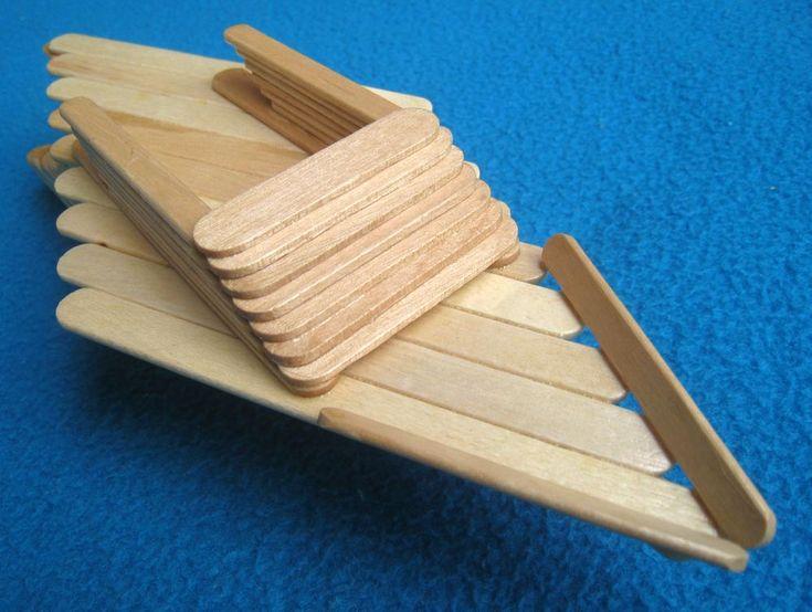 27 Best Craft Stick Boats Amp Floats Images On Pinterest