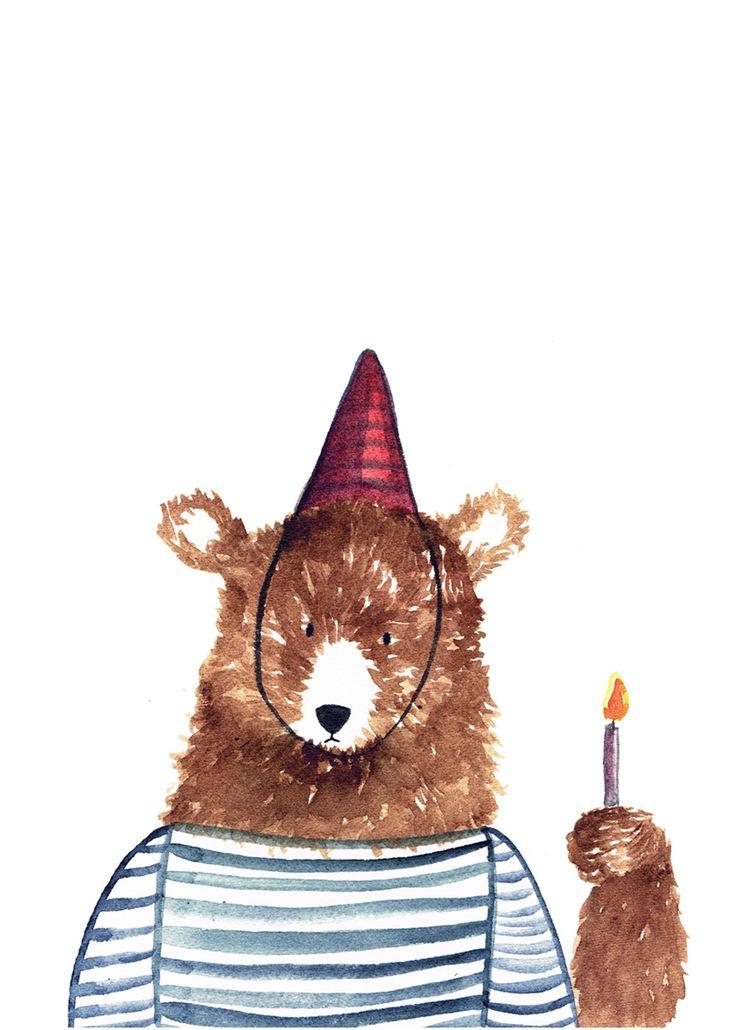 С днем рождения картинки медведь