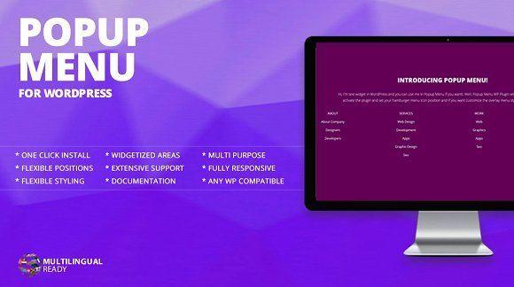 Popup Menu WordPress Plugin by themeofwp on @creativemarket