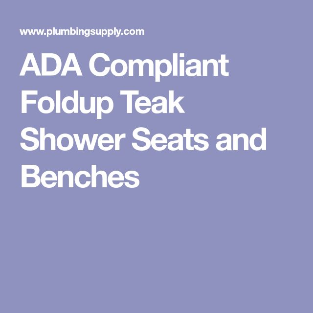 ADA Compliant Foldup Teak Shower Seats and Benches