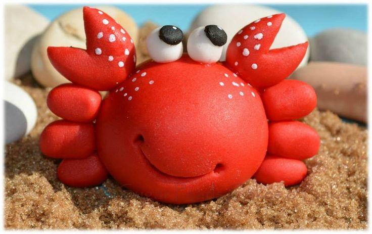 Modeling paste crab cake/cupcake topper